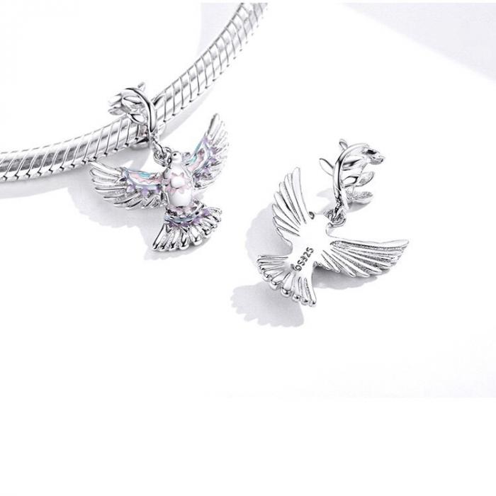 Talisman argint cu porumbelul pacii [1]