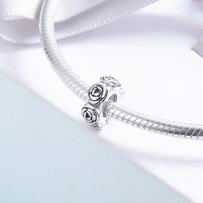 Talisman argint cu trandafiri 4