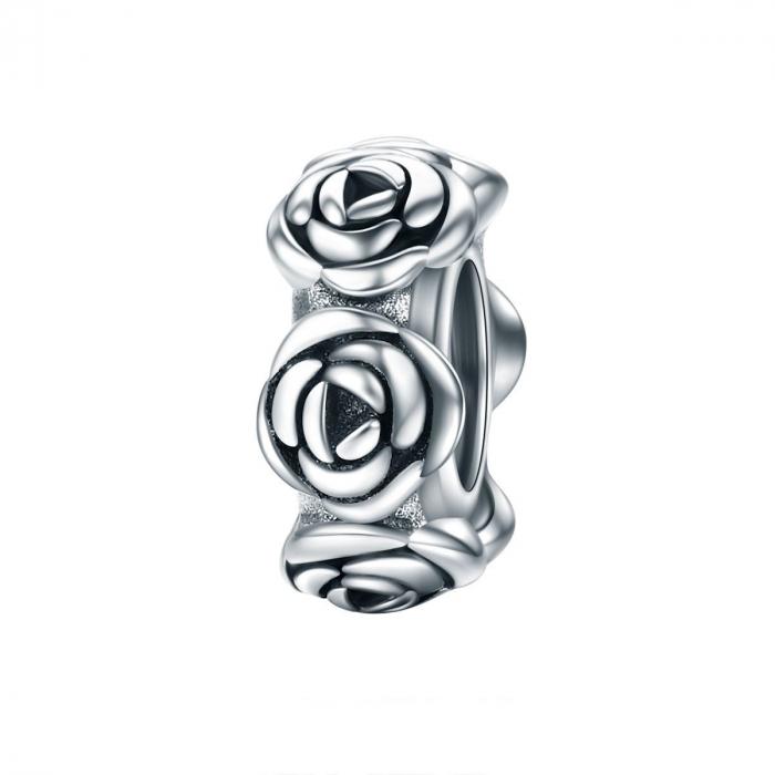 Talisman argint cu trandafiri 0