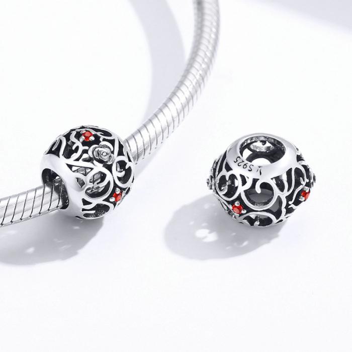 Talisman argint cu trandafiri si zirconii [1]