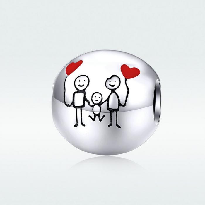 Talisman argint Familie Fericita 6