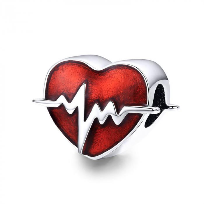 Talisman argint inima cu puls [0]