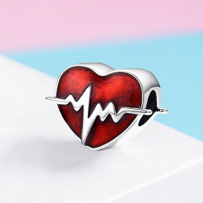 Talisman argint inima cu puls [2]