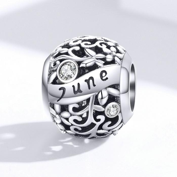 Talisman argint luna Iunie cu zirconiu [3]