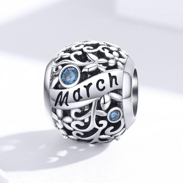 Talisman argint luna Martie cu zirconiu [3]