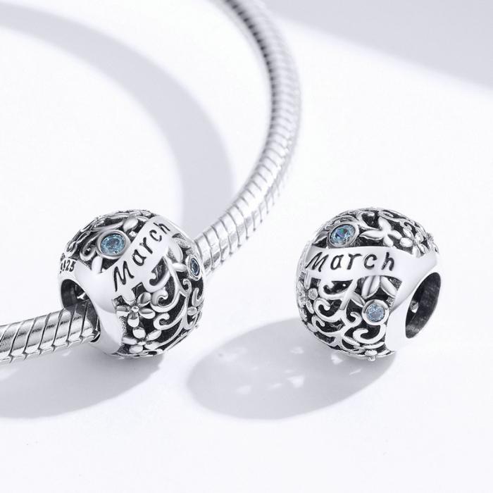 Talisman argint luna Martie cu zirconiu [2]