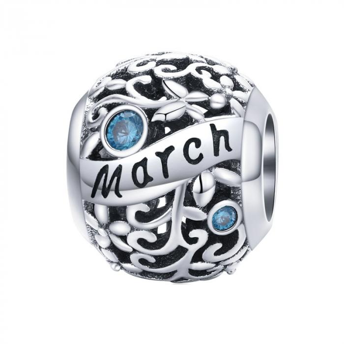 Talisman argint luna Martie cu zirconiu [0]