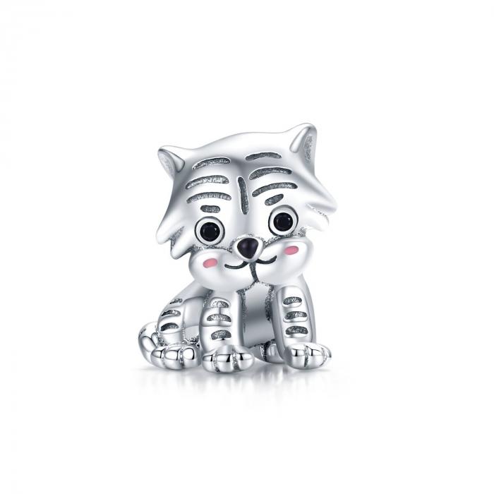 Talisman argint pui de tigru [0]