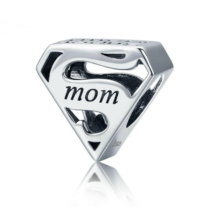 Talisman argint Super Mom 0