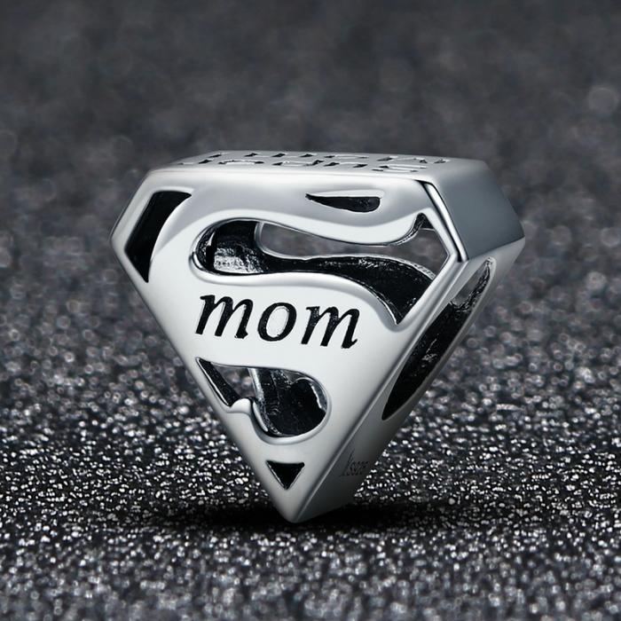 Talisman argint Super Mom 1