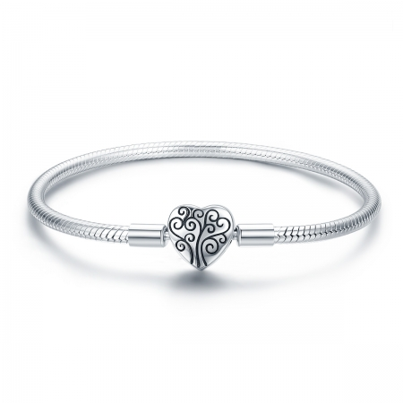 Bratara argint 925 inimioara cu copacul vietii - Be in Love BST0037