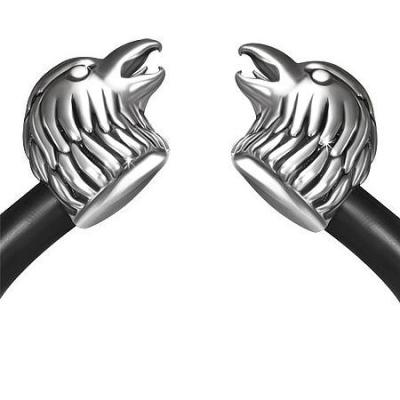 Bratara Biker din otel inox cu doi vulturi [1]