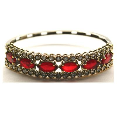 Bratara argint 925 eleganta cu zirconii rosii0