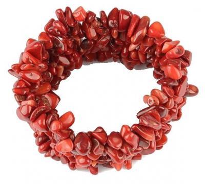 Bratara cu pietre semipretioase coral rosu0