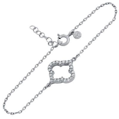 Bratara eleganta din argint 925 rodiat cu zirconii