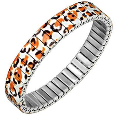 Bratara elastica din inox model leopard