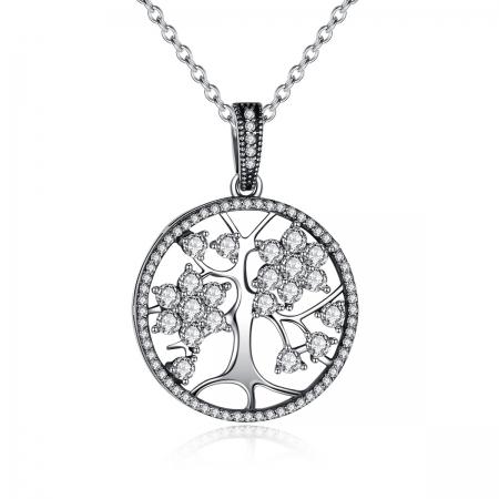Colier argint 925 cu copacul vietii si zirconii albe - Be Nature  CST0001