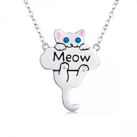 Colier argint 925 cu pisicuta jucausa Meow- Be Nature CST0013