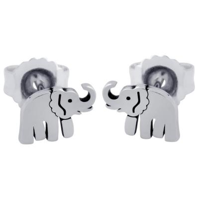 Cercei argint 925 cu elefanti0