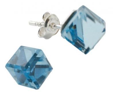 Cercei argint 925 cu swarovski elements Aquamarine