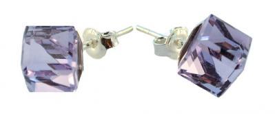 Cercei argint 925 cu swarovski elements Violet