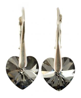 Cercei argint 925 cu swarovski elements Silver Night