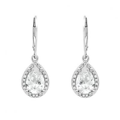 Cercei argint 925 picatura cu zirconii albe ESX0301 Be Elegant [1]