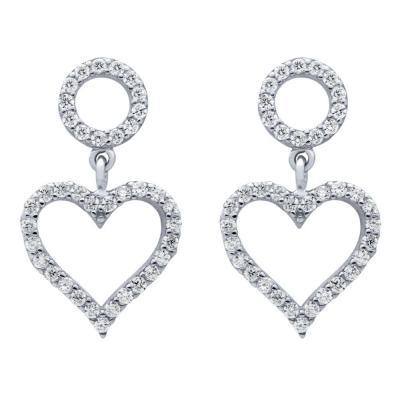 Cercei argint 925 rodiat cu inimioare si zirconii1