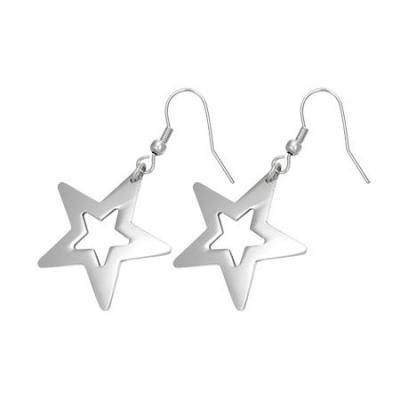 Cercei cu stele din otel inox Shining Star