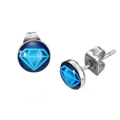 Cercei otel inox cu simbolul diamantului