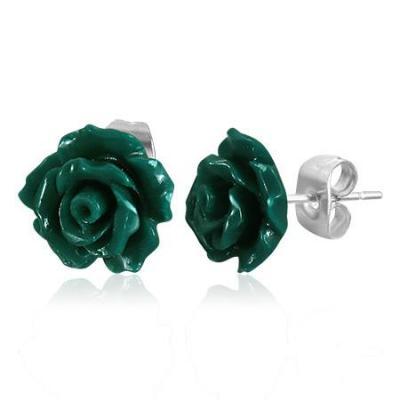 Cercei otel inox in forma de trandafiri