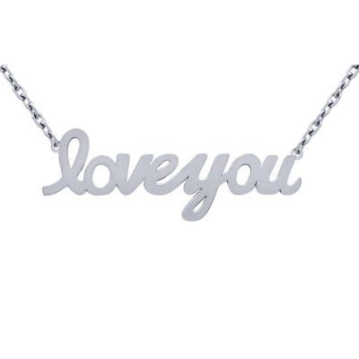 Colier argint 925 rodiat Love You1