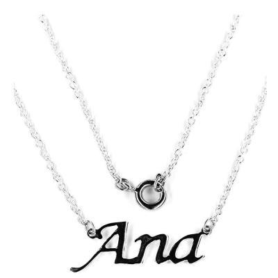 Colier argint 925 rodiat cu numele Ana