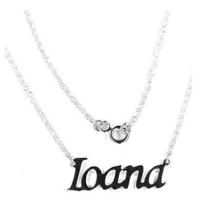Colier argint 925 rodiat cu numele Ioana