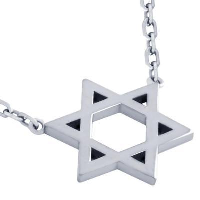 Colier argint 925 rodiat cu steaua lui David - Be Spiritual