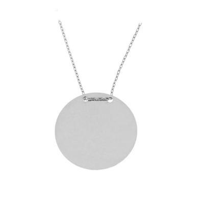 Colier cu banut mare din argint 925 rodiat 2.2 cm - Be Authentic0