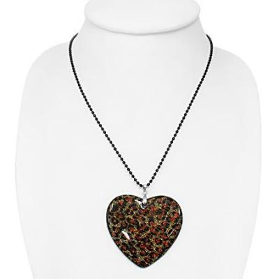 Colier cu pandantiv inimioara si lant negru1