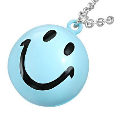 Colier cu pandantiv smiley face0