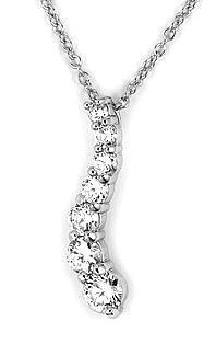 Colier elegant argint 925 rodiat cu zirconii1
