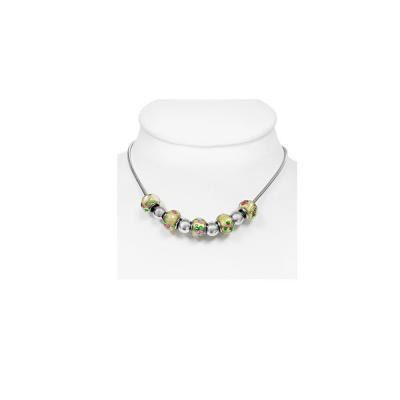 Colier elegant din otel inox cu charmuri frumoase1