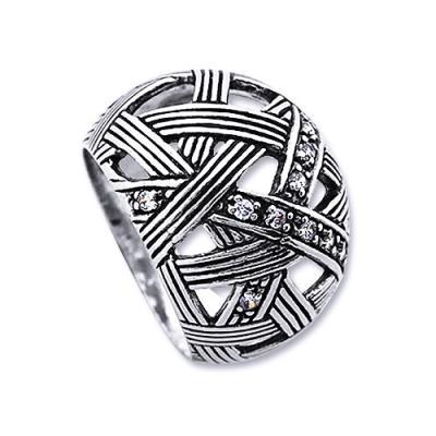 Inel argint 925 lucrat manual cu zirconii