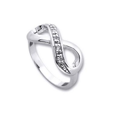 Inel argint 925 rodiat cu simbolul infinit si zirconii albe - Infinite You IBU0030