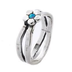 Inel argint 925 Israel floare cu opal imperial