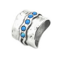 Inel lat din argint 925 Israel cu opal imperial