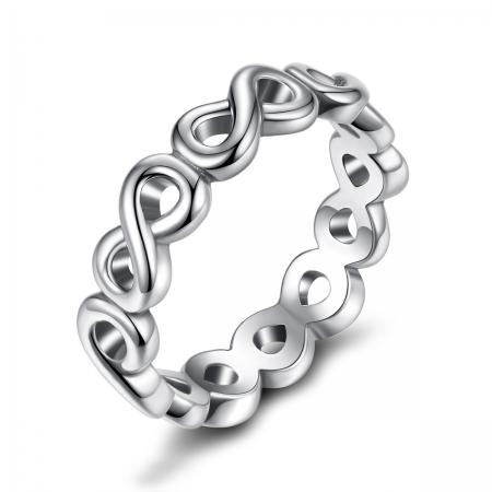 Inel placat cu argint cu simbolul infinit IST0004_173