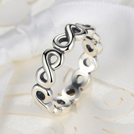 Inel placat cu argint cu simbolul infinit IST0004_1732