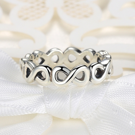 Inel placat cu argint cu simbolul infinit IST0004_1734