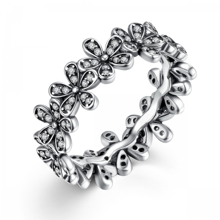 Inel placat cu argint cu floricele IST0006_173