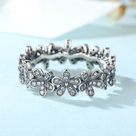 Inel placat cu argint cu floricele IST00062