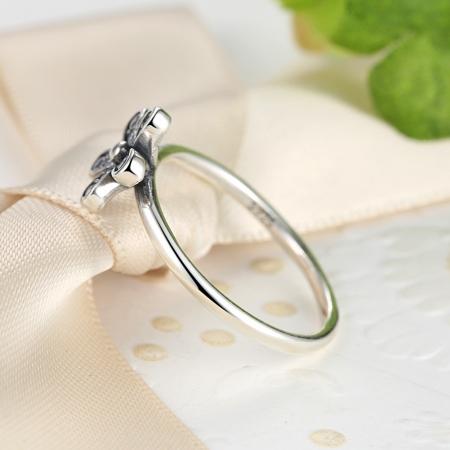 Inel argint cu floare si zirconii albe - Be Nature IST0012_1732